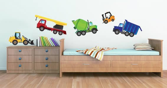 My funny trucks wall decals