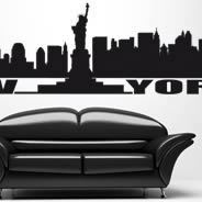 New York urban wall stickers