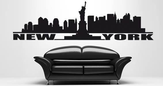 New york urban wall stickers dezign with a z new york urban wall stickers gumiabroncs Images