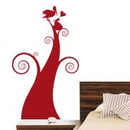 My Love Nest flower wall decals