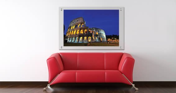Rome Coloseum Plexiglass Stand Off