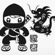 Ninja & Dragons children wall clings