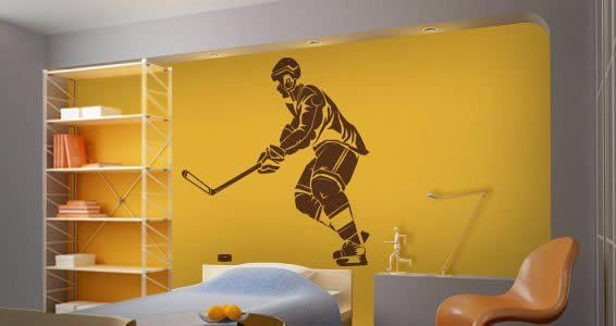 NHL Hockey Player wall decals