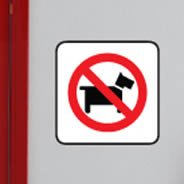 No Dogs Allowed decal sign