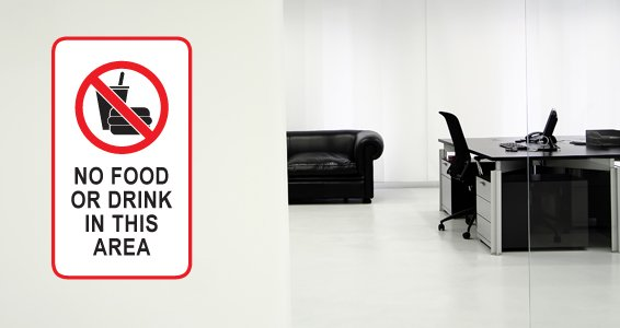 No Food Sign wall decal