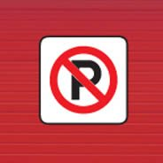 No Parking decals