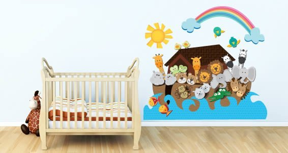 Noah's Ark wall decal