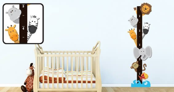 Noahs growth chart decals