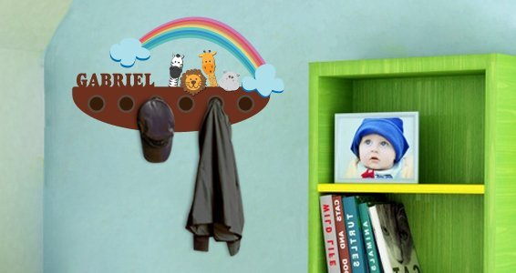 Personalized Noahs Rack wall decals