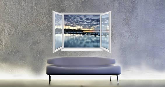 Sunset Bay Faux Window Murals