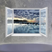 Sunset Bay Faux Window Murals