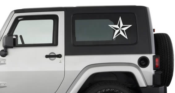 Northcal Star car decals