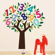 Number Tree wall decals