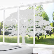 Tree frosted window decals