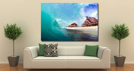 Wave artist canvas on wood frame | Dezign With a Z