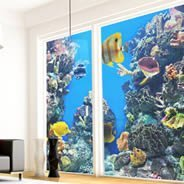 Aquarium see through window decals