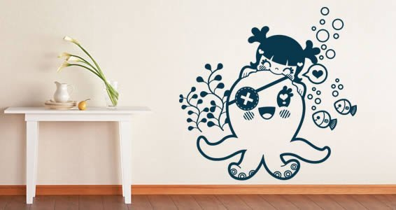 My Octopus nursery wall stickers