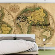 Dry Erase Ancient Globe World Maps decals