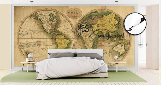Dry erase ancient globe world maps decals dezign with a z dry erase ancient globe world maps decals gumiabroncs Choice Image