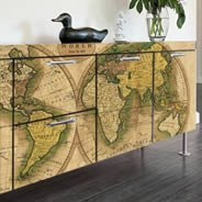 Ancient Globe World Maps Dry Erase Decal