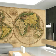 Ancient Globe World Maps wall mural