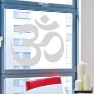 Om frosted window stickers