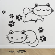 Kitty Cats wall decals