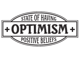 Optimism quote wall stickers