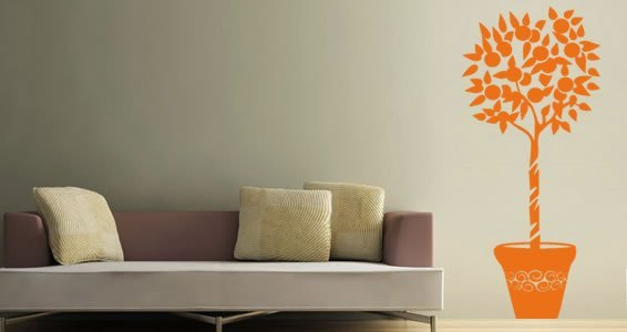 Orange Tree wall decals