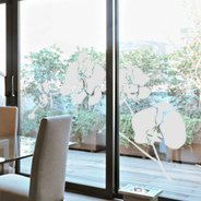 Orchid frosted decals for windows