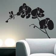 Orchids wall decals, floral stickers