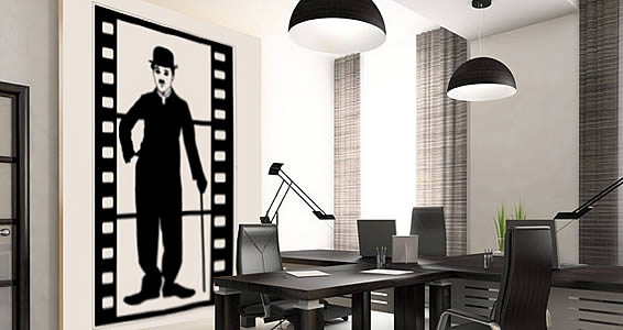 Charlie Movie wall stickers