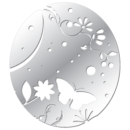 Oval Butterfly acrylic mirror