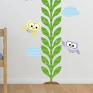 Owls in Flight growth chart decals