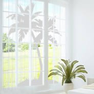 Palm Tree frosted window decal