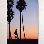 LA Sunset -Photo Giclee Canvas by Benoit Lloret