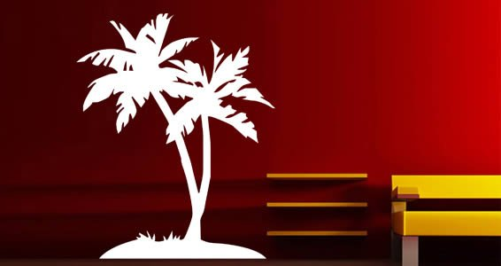 Palm Tree wall decals & Palm Tree wall decals | Dezign With a Z