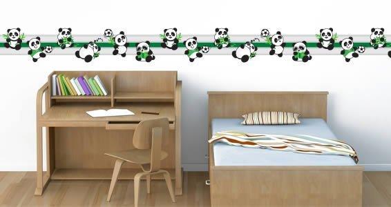 Playful Panda border decals