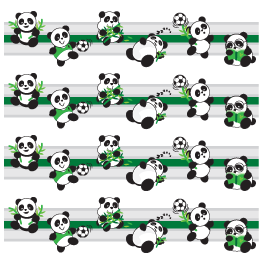 Playful Panda border decals