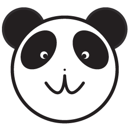 Panda clock wall decal (with mechanism)
