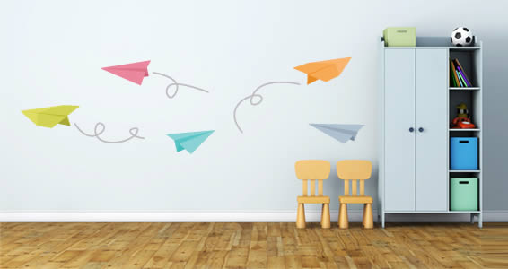 Paper Planes wall decals