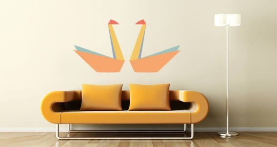 Paper Swan wall decals