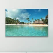 Paradise printed on canvas