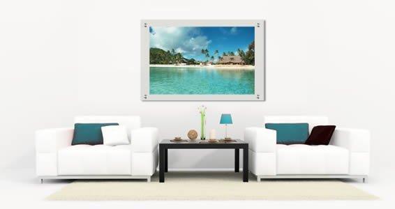 Paradise Beach Plexiglass Stand Off