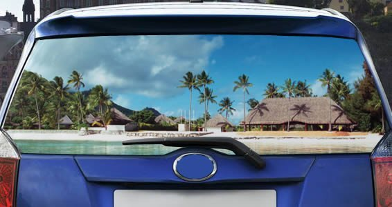 Paradise See Through Car Window Decals Dezign With A Z