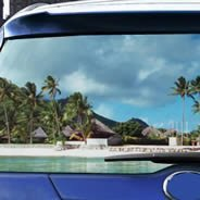 Paradise see through car window decals