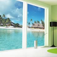 Paradise Beach see through window decals
