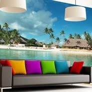 Paradise quality wall murals