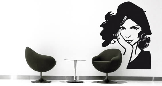 Paris Girl vinyl wall stickers