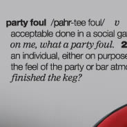 Party Foul wall decal quotes